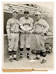 Babe Ruth Original Wire Stamped Photograph