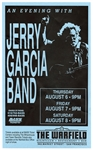 Jerry Garcia Band Original Concert Poster