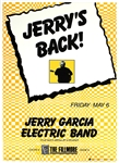 Jerry Garcia Electric Band Original Concert Poster