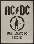 "AC/DC Original ""Black Ice"" Poster Artists Stencil"