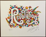 "Beatles ""Revolution"" Original Limited Edition Artwork for ""The Beatles Illustrated Lyrics"" Book Signed by Alan Aldridge"