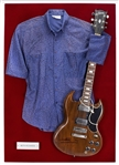 Keith Richards Signed Vintage Gibson SG Guitar with a Keith Richards Worn Shirt