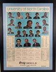 Michael Jordan Historic 1981 North Carolina Tar Heels Team Signed Calendar JSA LOA