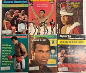 Muhammad Ali Collection of 6 Sports Illustrated Magazines