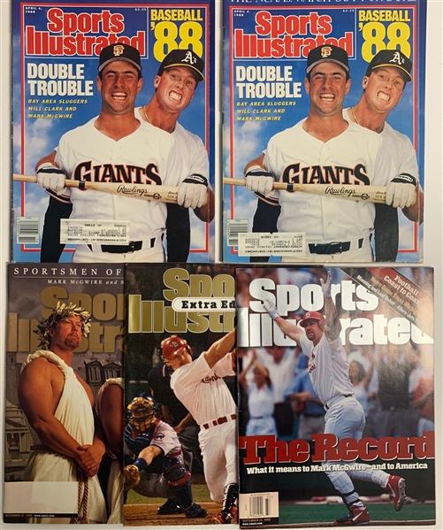 Mark McGwire Collection of 5 Sports Illustrated Magazines