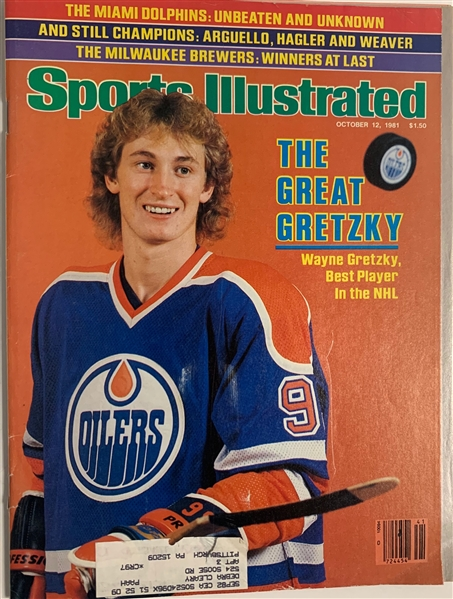 Wayne Gretzky First Issue Sports Illustrated Magazine