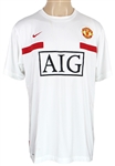 Cristiano Ronaldo Match Worn Warm-Up Manchester United AIG Jersey