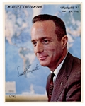 Scott Carpenter Signed Photograph Beckett COA