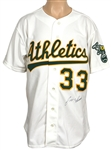 Jose Canseco Signed Oakland Athletics Cooperstown Rookie Replica Jersey