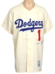 "Harold ""Pee Wee"" Reese Signed Los Angeles Dodgers Cooperstown Rookie Replica Jersey"