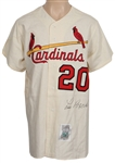 Lou Brock Signed St. Louis Cardinals Cooperstown Replica Rookie Jersey
