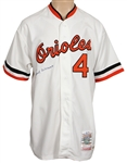 Earl Weaver Signed Baltimore Orioles Cooperstown Rookie Replica Jersey