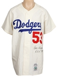 Don Drysdale Signed Los Angeles Dodgers Cooperstown Rookie Replica Jersey