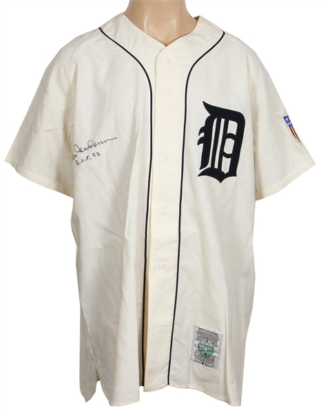 Hal Newhouser Signed Detroit Tigers Cooperstown Rookie Replica Jersey