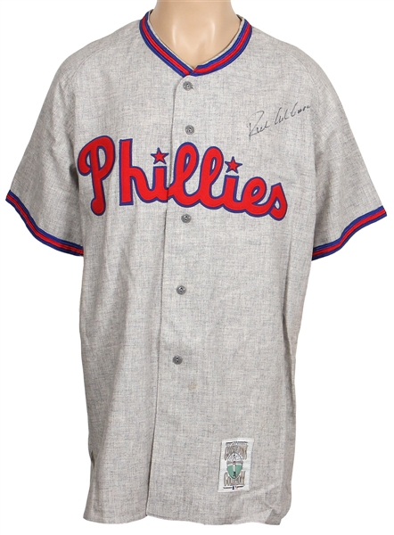 Richie Ashburn Philadelphia Phillies Signed Cooperstown Rookie Replica Jersey