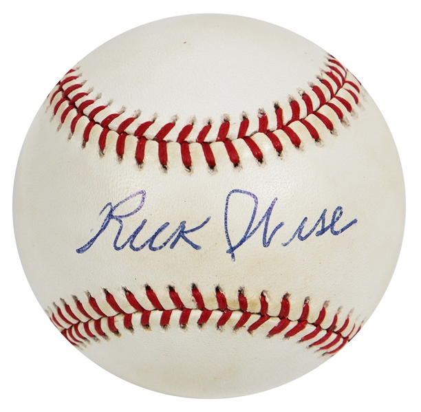 Rick Wise Signed Baseball