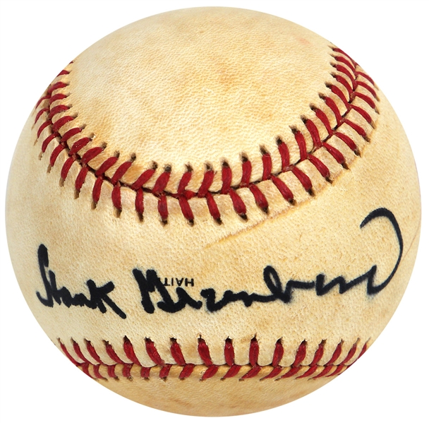Hank Greenberg High Grade Signed Baseball JSA LOA