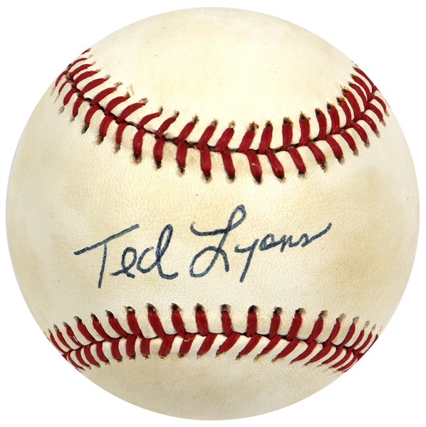 Ted Lyons Signed Baseball