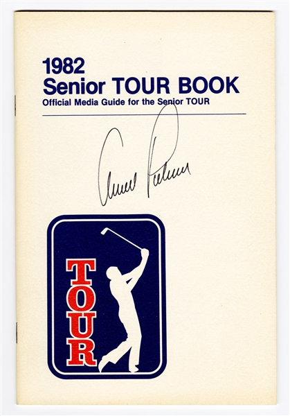 Arnold Palmer Signed 1982 Senior Tour Book