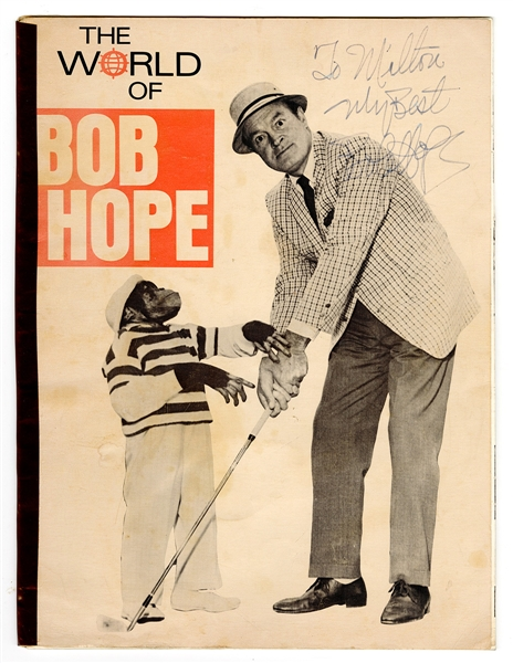 "Bob Hope Signed ""The World of Bob Hope"" Book"