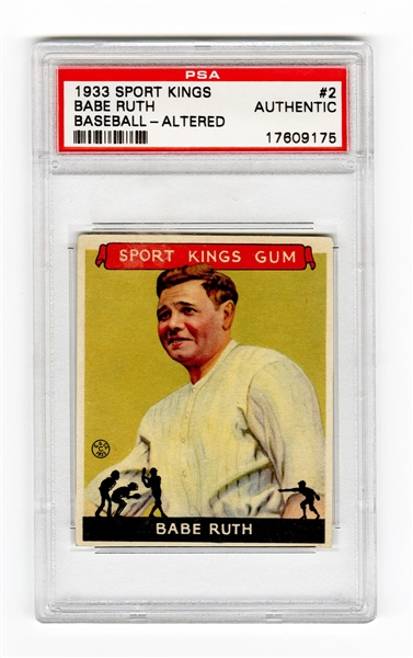 1933 Sports King Babe Ruth PSA Authentic