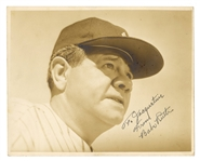 Babe Ruth Signed and Inscribed Photograph JSA LOA