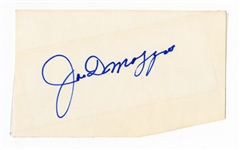 Joe DiMaggio Signed Index Cut JSA LOA