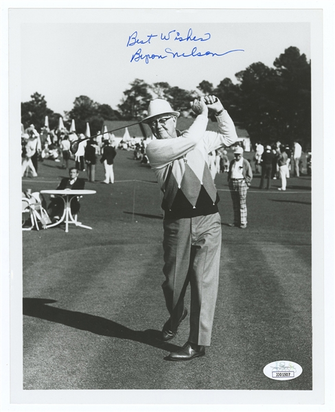 Byron Nelson Signed Photograph JSA Authentication