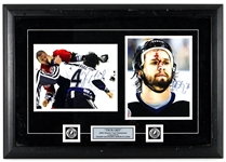 2004 Stanley Cup Champions Vincent Lecavalier & Martin St. Louis Signed and Framed Photographs