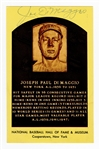Joe DiMaggio Signed Hall of Fame Plaque Postcard