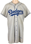 1952 Bud Podbielan Brooklyn Dodgers Game Worn Road Flannel Jersey