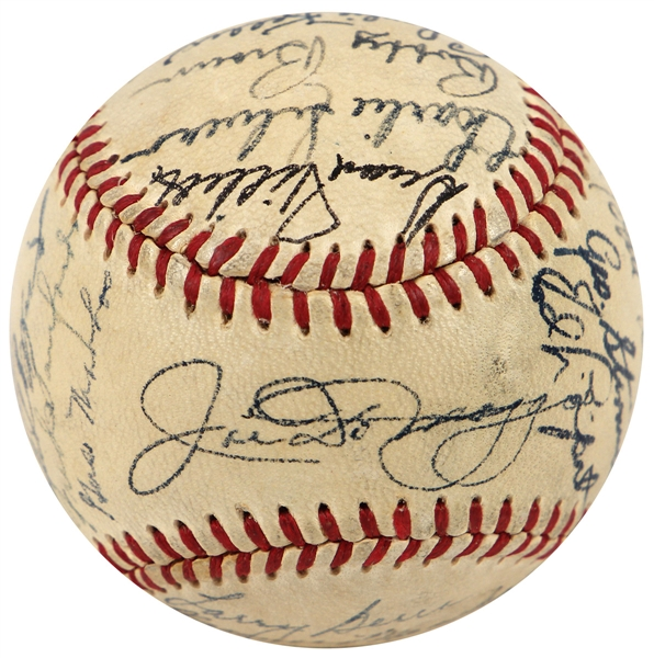 1949 New York Yankees Signed Baseball (High Grade) JSA LOA