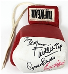 Willie Pep, Carmen Basilio, Emile Griffith, Tony DeMarco & Roy Jones Signed Boxing Glove JSA Authentication