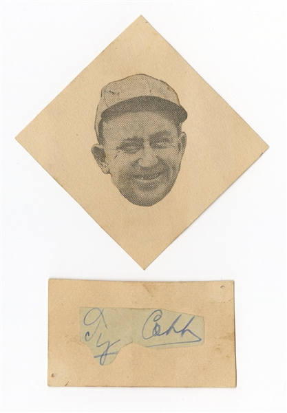 Ty Cobb Signed Cut JSA LOA