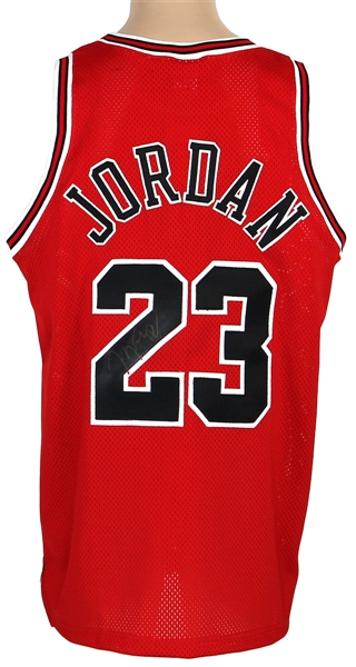 Michael Jordan Chicago Bulls Incredible Signed Jersey