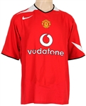 Cristiano Ronaldo Match Worn Warm-Up Manchester United Vodafone Jersey