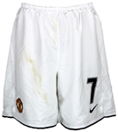 Cristiano Ronaldo Game Worn Manchester United Home Shorts