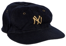 Babe Ruth Game Worn New Yankees Baseball Cap Circa 1933 (Mears)