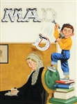 "Mad Magazine Original ""Alfred E. Neuman with Whistler Mother"" Rare Norman Mingo Cover Artwork"