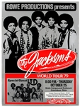 Jacksons Original World Tour 79 Concert Poster