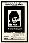 Bob Dylan/The Who/The Band Original 1969 Isle of Wight Music Festival Concert Poster