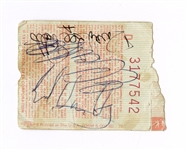 Van Halen Signed Concert Ticket JSA