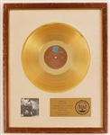 "The Who ""Quadrophenia"" Original RIAA White Matte Gold LP Record Album Award"