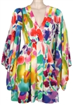 Lana Del Rey Owned and Worn Vintage Colorful Abstract Design Dress