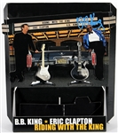 "B.B. King Signed ""Riding With The King"" with Eric Clapton Store Display"