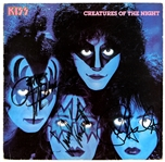 "KISS ""Creatures of the Night"" Band Signed Album"