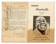 Louis Armstrong Signed 1965 Program JSA