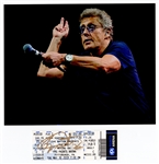 The Who Roger Daltrey Signed Concert Ticket with Photograph