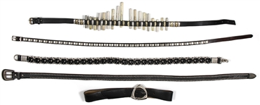 KISS Band Worn Leather Belts (5) from Famed KISS Farewell Tour Auction