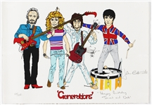"The Who John Entwistle Signed and Inscribed ""Generations"" Original Limited Edition Lithograph"